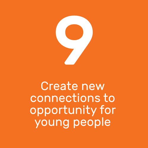 Create new connections to opportunity for young people