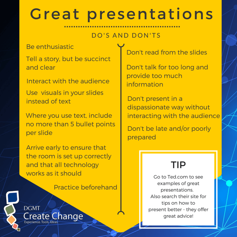 Presentations do's and dont's