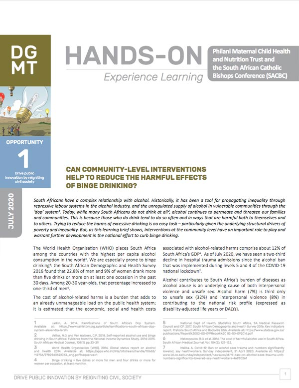 Read our learning brief on community level interventions to combat harmful drinking here.