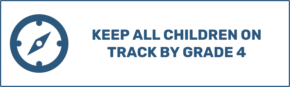 Keep all children on track by Grade 4