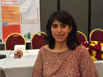 Constanza Alarcon presents at the Forum on Investing in Young Children Globally in Addis Ababa, July 2015